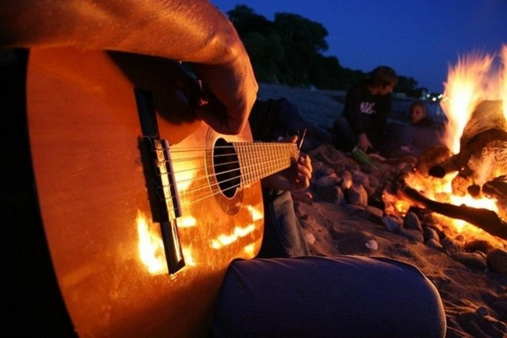 гитара и костер картинки эль